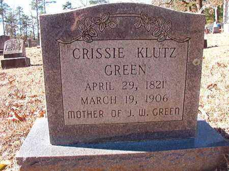 KLUTZ GREEN, CRISSIE - Dallas County, Arkansas | CRISSIE KLUTZ GREEN - Arkansas Gravestone Photos