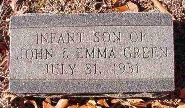 GREEN, INFANT SON - Dallas County, Arkansas   INFANT SON GREEN - Arkansas Gravestone Photos