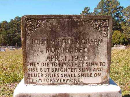 GREEN, JOHN SPENCER - Dallas County, Arkansas | JOHN SPENCER GREEN - Arkansas Gravestone Photos