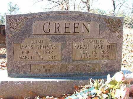 GREEN, JAMES THOMAS - Dallas County, Arkansas   JAMES THOMAS GREEN - Arkansas Gravestone Photos