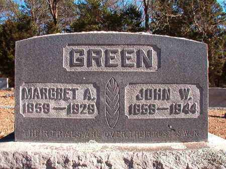 GREEN, JOHN W - Dallas County, Arkansas | JOHN W GREEN - Arkansas Gravestone Photos