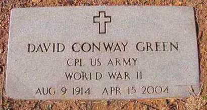 GREEN (VETERAN WWII), DAVID CONWAY - Dallas County, Arkansas | DAVID CONWAY GREEN (VETERAN WWII) - Arkansas Gravestone Photos