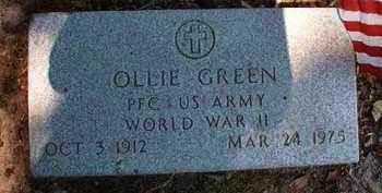 GREEN (VETERAN WWII), OLLIE - Dallas County, Arkansas | OLLIE GREEN (VETERAN WWII) - Arkansas Gravestone Photos