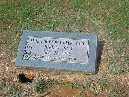 BURTON GREEN WORD, FLORA - Dallas County, Arkansas | FLORA BURTON GREEN WORD - Arkansas Gravestone Photos