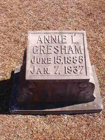 GRESHAM, ANNIE L - Dallas County, Arkansas | ANNIE L GRESHAM - Arkansas Gravestone Photos