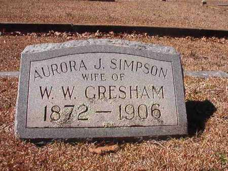 GRESHAM, AURORA J - Dallas County, Arkansas | AURORA J GRESHAM - Arkansas Gravestone Photos