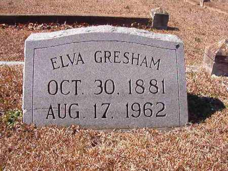 GRESHAM, ELVA - Dallas County, Arkansas | ELVA GRESHAM - Arkansas Gravestone Photos