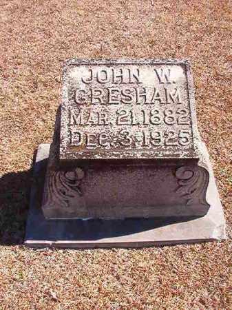 GRESHAM, JOHN W - Dallas County, Arkansas | JOHN W GRESHAM - Arkansas Gravestone Photos