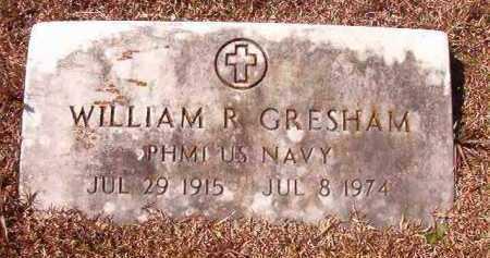 GRESHAM (VETERAN), WILLIAM R - Dallas County, Arkansas | WILLIAM R GRESHAM (VETERAN) - Arkansas Gravestone Photos