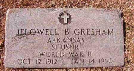 GRESHAM (VETERAN WWII), JELOWELL B - Dallas County, Arkansas | JELOWELL B GRESHAM (VETERAN WWII) - Arkansas Gravestone Photos