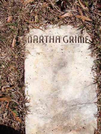 GRIMES, MARTHA - Dallas County, Arkansas | MARTHA GRIMES - Arkansas Gravestone Photos