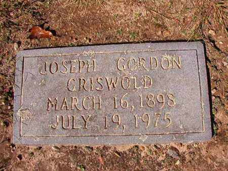 GRISWOLD, JOSEPH GORDON - Dallas County, Arkansas | JOSEPH GORDON GRISWOLD - Arkansas Gravestone Photos
