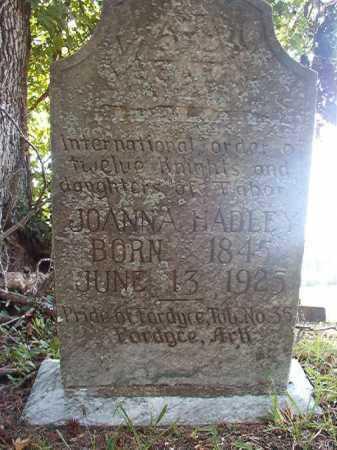 HADLEY, JOANNA - Dallas County, Arkansas | JOANNA HADLEY - Arkansas Gravestone Photos