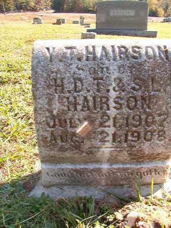 HAIRSON, Y T - Dallas County, Arkansas | Y T HAIRSON - Arkansas Gravestone Photos