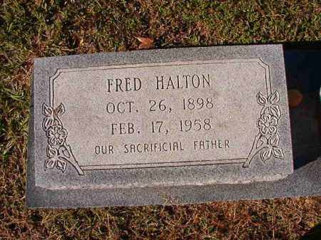 HALTON, FRED - Dallas County, Arkansas   FRED HALTON - Arkansas Gravestone Photos