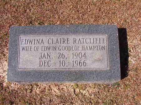 HAMPTON, EDWINA CLAIRE - Dallas County, Arkansas | EDWINA CLAIRE HAMPTON - Arkansas Gravestone Photos