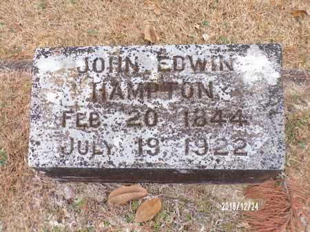 HAMPTON, JOHN EDWIN - Dallas County, Arkansas | JOHN EDWIN HAMPTON - Arkansas Gravestone Photos