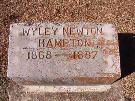HAMPTON, WYLEY NEWTON - Dallas County, Arkansas | WYLEY NEWTON HAMPTON - Arkansas Gravestone Photos