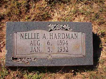 HARDMAN, NELLIE A - Dallas County, Arkansas | NELLIE A HARDMAN - Arkansas Gravestone Photos