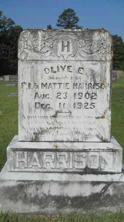 HARRISON, OLIVE E - Dallas County, Arkansas   OLIVE E HARRISON - Arkansas Gravestone Photos