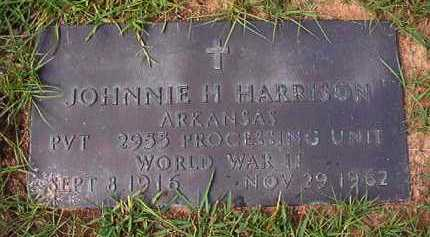 HARRISON (VETERAN WWII), JOHNNIE H - Dallas County, Arkansas | JOHNNIE H HARRISON (VETERAN WWII) - Arkansas Gravestone Photos