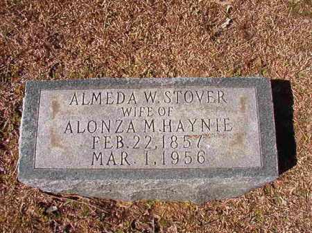 HAYNIE, ALMEDA W - Dallas County, Arkansas   ALMEDA W HAYNIE - Arkansas Gravestone Photos