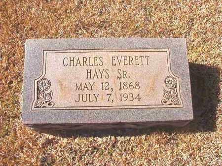 HAYS, SR, CHARLES EVERETT - Dallas County, Arkansas | CHARLES EVERETT HAYS, SR - Arkansas Gravestone Photos