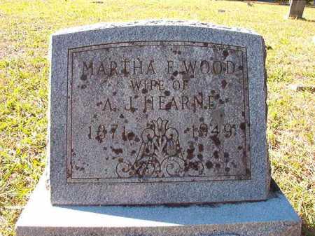 WOOD HEARNE, MARTH A E. - Dallas County, Arkansas | MARTH A E. WOOD HEARNE - Arkansas Gravestone Photos