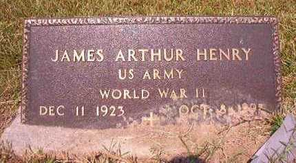 HENRY (VETERAN WWII), JAMES ARTHUR - Dallas County, Arkansas | JAMES ARTHUR HENRY (VETERAN WWII) - Arkansas Gravestone Photos