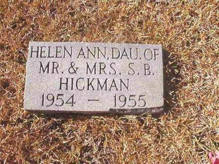 HICKMAN, HELEN ANN - Dallas County, Arkansas | HELEN ANN HICKMAN - Arkansas Gravestone Photos