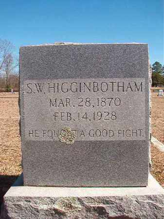 HIGGINBOTHAM, S W - Dallas County, Arkansas | S W HIGGINBOTHAM - Arkansas Gravestone Photos