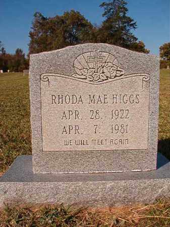 HIGGS, RHODA MAE - Dallas County, Arkansas | RHODA MAE HIGGS - Arkansas Gravestone Photos