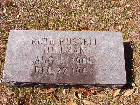 RUSSELL HILLMAN, RUTH - Dallas County, Arkansas | RUTH RUSSELL HILLMAN - Arkansas Gravestone Photos