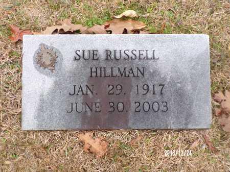 RUSSELL HILLMAN, SUE - Dallas County, Arkansas | SUE RUSSELL HILLMAN - Arkansas Gravestone Photos