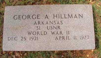 HILLMAN (VETERAN WWII), GEORGE A - Dallas County, Arkansas | GEORGE A HILLMAN (VETERAN WWII) - Arkansas Gravestone Photos