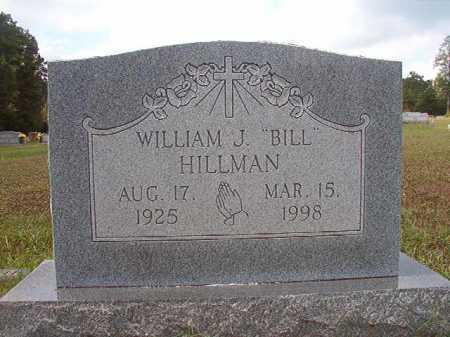 """HILLMAN, WILLIAM J """"BILL"""" - Dallas County, Arkansas   WILLIAM J """"BILL"""" HILLMAN - Arkansas Gravestone Photos"""