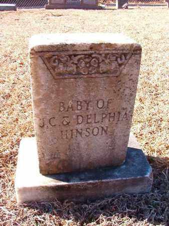 HINSON, BABY - Dallas County, Arkansas   BABY HINSON - Arkansas Gravestone Photos
