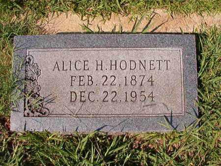 HODNETT, ALICE H - Dallas County, Arkansas | ALICE H HODNETT - Arkansas Gravestone Photos