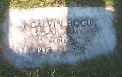 HOGUE (VETERAN KOR), J CALVIN - Dallas County, Arkansas | J CALVIN HOGUE (VETERAN KOR) - Arkansas Gravestone Photos