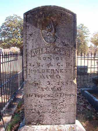 HOLDERNESS, WILLIAM T - Dallas County, Arkansas | WILLIAM T HOLDERNESS - Arkansas Gravestone Photos