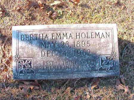 HOLEMAN, BERTHA EMMA - Dallas County, Arkansas | BERTHA EMMA HOLEMAN - Arkansas Gravestone Photos