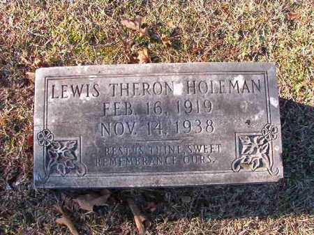HOLEMAN, LEWIS THERON - Dallas County, Arkansas   LEWIS THERON HOLEMAN - Arkansas Gravestone Photos