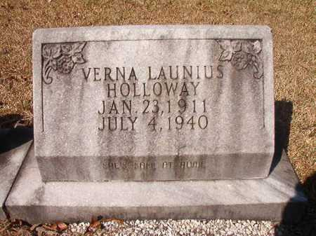 LAUNIUS HOLLOWAY, VERNA - Dallas County, Arkansas | VERNA LAUNIUS HOLLOWAY - Arkansas Gravestone Photos