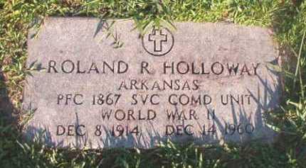 HOLLOWAY (VETERAN WWII), ROLAND R - Dallas County, Arkansas   ROLAND R HOLLOWAY (VETERAN WWII) - Arkansas Gravestone Photos