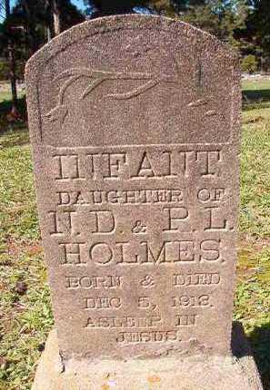HOLMES, INFANT DAUGHTER - Dallas County, Arkansas | INFANT DAUGHTER HOLMES - Arkansas Gravestone Photos