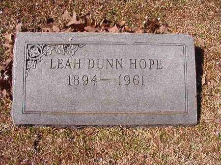 DUNN HOPE, LEAH - Dallas County, Arkansas | LEAH DUNN HOPE - Arkansas Gravestone Photos