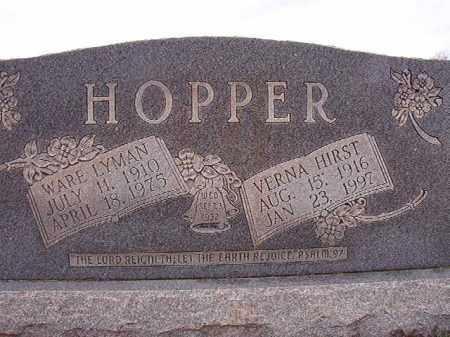 HOPPER, VERNA - Dallas County, Arkansas | VERNA HOPPER - Arkansas Gravestone Photos
