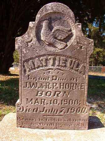 HORNE, MATTIE ULA - Dallas County, Arkansas | MATTIE ULA HORNE - Arkansas Gravestone Photos