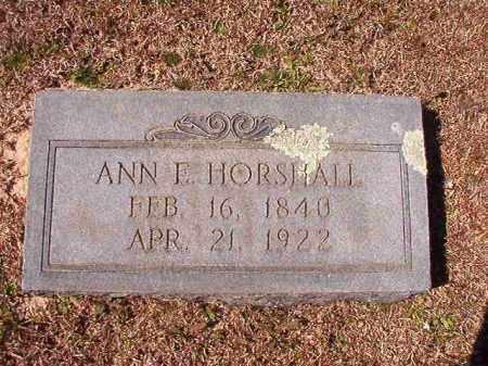 HORSHALL, ANN E - Dallas County, Arkansas   ANN E HORSHALL - Arkansas Gravestone Photos