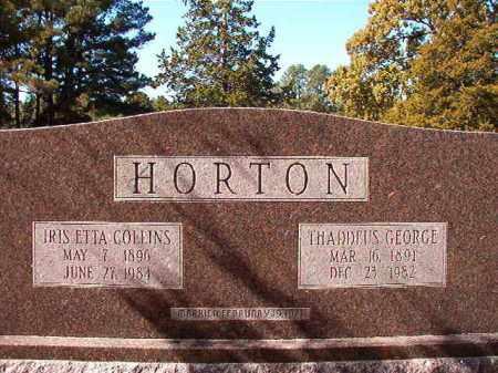 COLLINS HORTON, IRIS ETTA - Dallas County, Arkansas | IRIS ETTA COLLINS HORTON - Arkansas Gravestone Photos